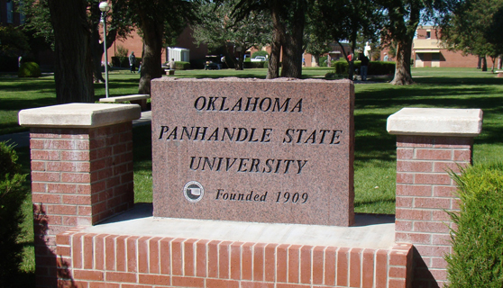 OPSU Stone Sign